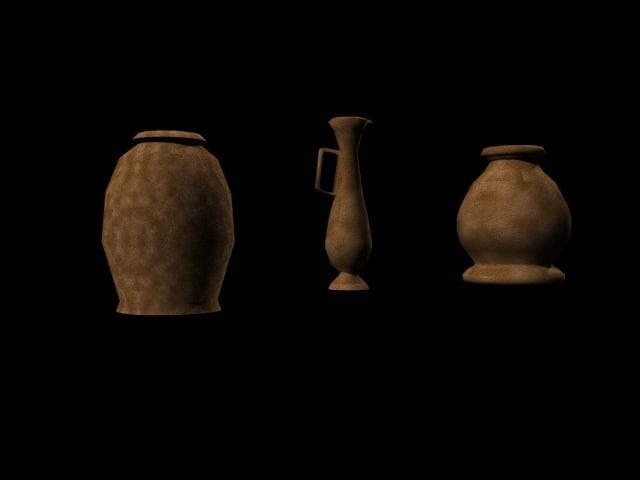pots vases 3d model