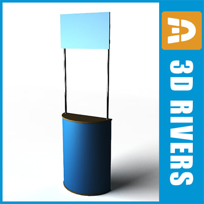 promo booth 3d model