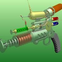 3d model raygun