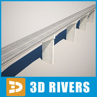 bridge concrete 3d model