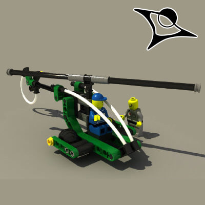 lego helicopter 3d model