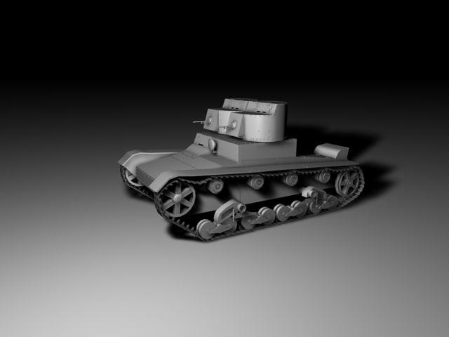 3d model t26 russian tank