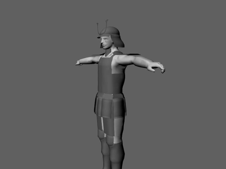 maya samurai t-posed