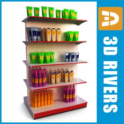 supermarkets shelving 3d model