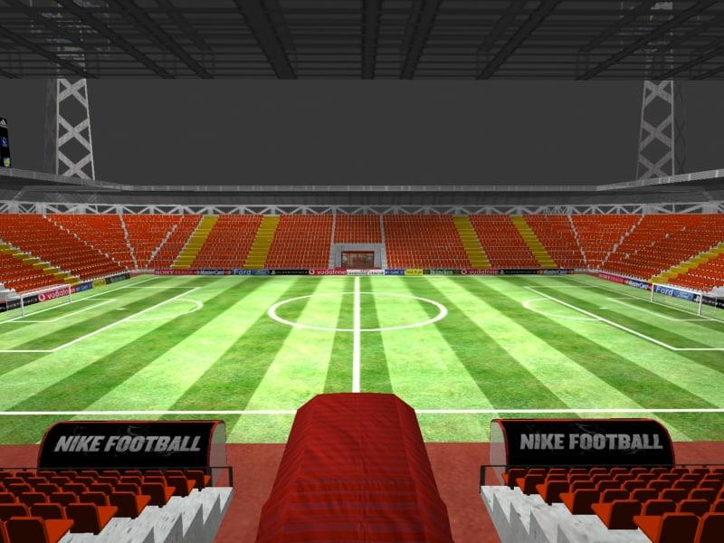 3d model generic stadium