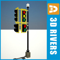 Traffic light 01 by 3DRivers