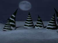 evergreen trees 3d max