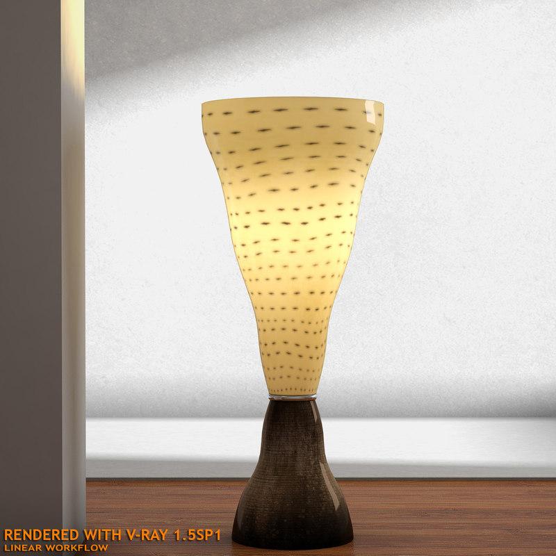 3d designer vivia t table lamp model