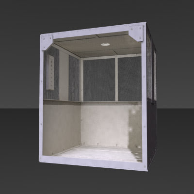rust old factory elevator 3d model