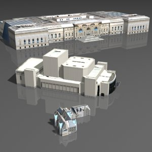 3d max museums buildings metropolitan