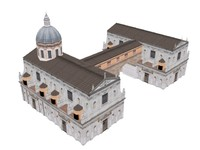 3d model of vatican church building