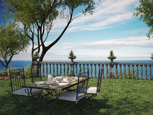camille garden mirto table 3d max