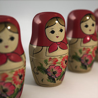 3d matrioshka nesting dolls model