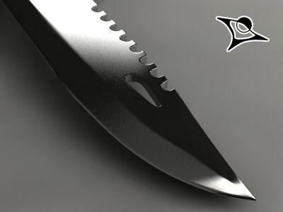 3d model of rambo knife render