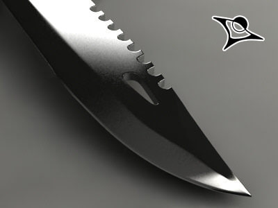 3d model of rambo knife render