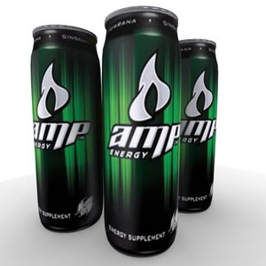 3d model of amp energy drink
