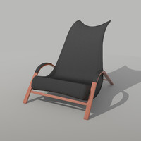 3d res leather chair model