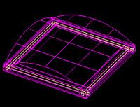 3d model of 2x2 light fixture