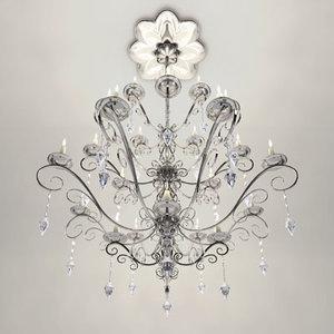 lamp light chandelier 3d model