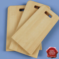 chopping boards 3d model