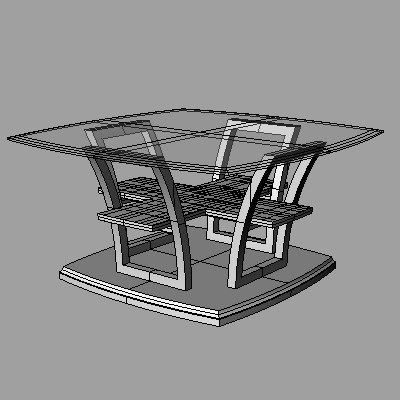 contemporary cocktail table 3d 3dm