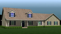 fully house 3d max
