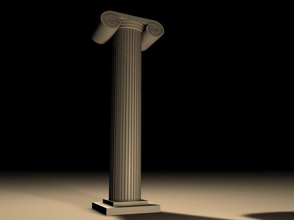 c4d ionic column