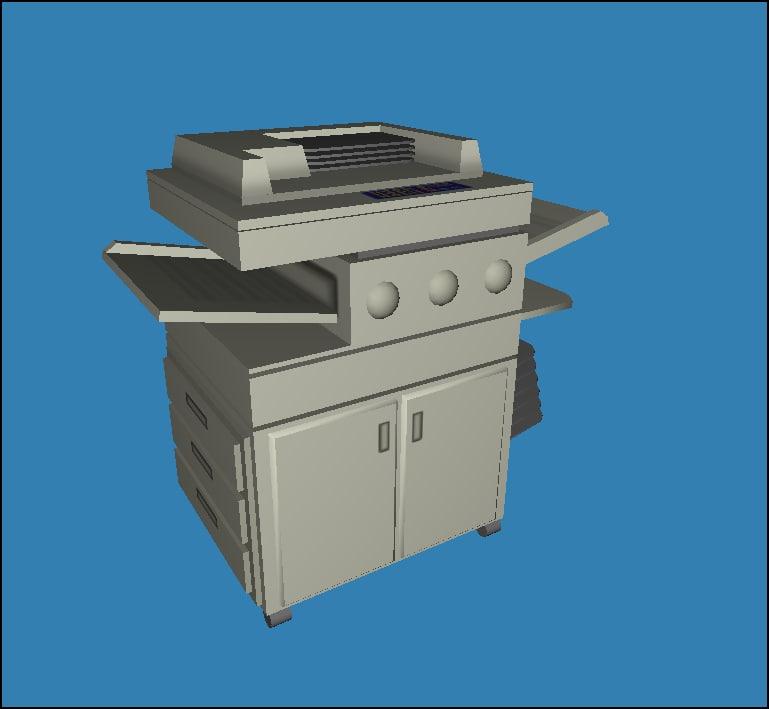 3d model of copy copier
