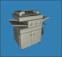 Freestanding Copier (Low Poly)