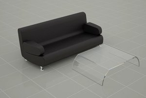 3ds max minimalistic coffee table lounge
