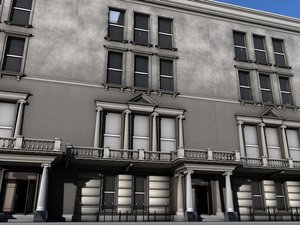 embassy building 3d model