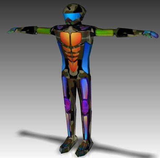 free 3ds model humanoid exoskeleton