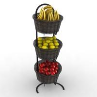 max standing basket fruits