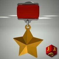 Medal Hero of the Soviet Union.