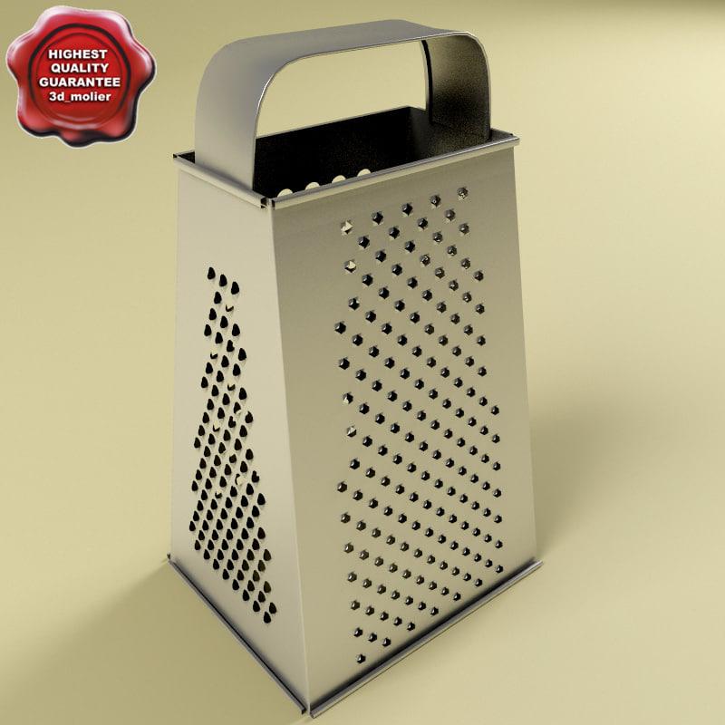 3d model grater details modelled