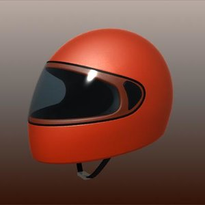 3d integral motorcycle helmet