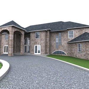 3d fully house model