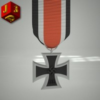 3d model iron cross 2nd class