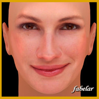 julia roberts head 3d obj