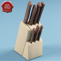 3d model knife block