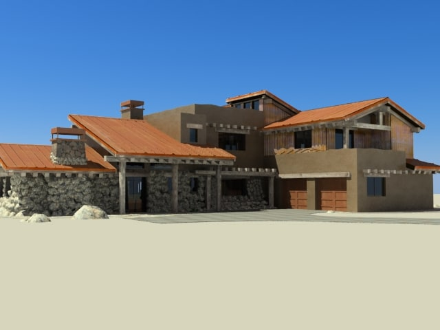 3d model of tuscan style home