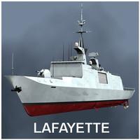lafayette stealth frigate 3d model