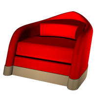 swept contemporary chair 3d 3dm