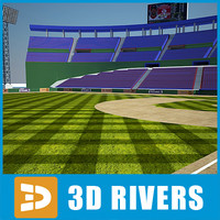 Baseball stadium 01 by 3DRivers
