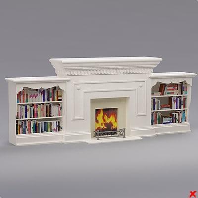 3d model fireplace