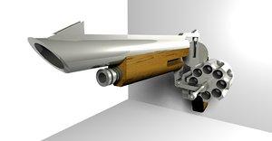 magnum revolver 3d 3ds