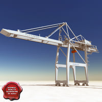 port container crane v2 3d c4d