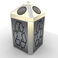 recycle bin trash 3d max