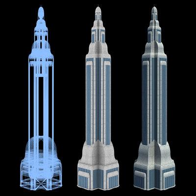 3ds max mile skyscraper building sci-fi