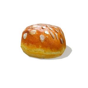 loaf bread 1 3d model